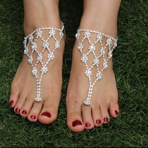 Jewelry - Stunning Sparkling Party or Bridal Wedding Sandals